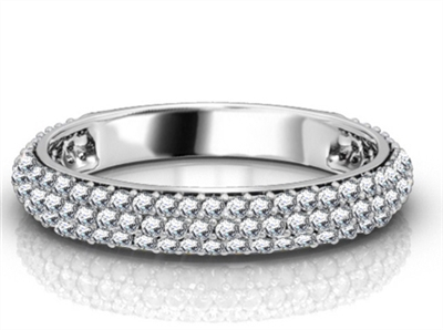 Round Diamond Three Row Eternity Ring DHRZ0863 Image