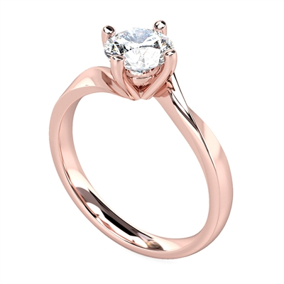 Round Diamond Engagement Ring DHDOMR11027 Image