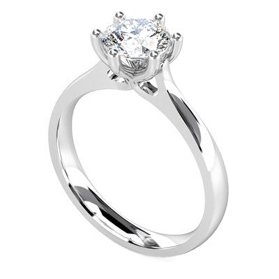 Round Diamond Engagement Ring DHDOMR1144 Image