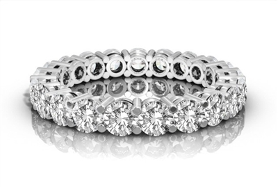 Classic Round Diamond Full Eternity Ring DHRZ0154 Image