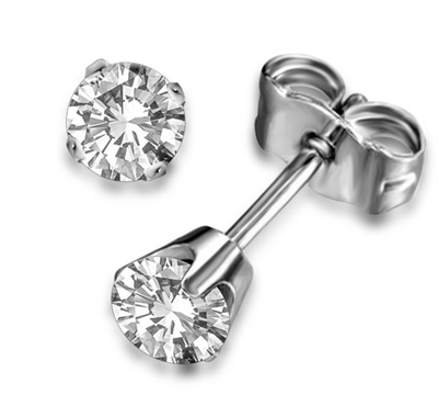 Traditional Round Diamond Stud Earrings DHDOMFCE Image