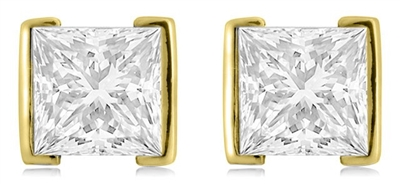 Eclipse Princess Cut Diamond Earrings DHDOMERG265 Image