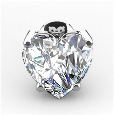 Modern Heart Diamond Stud Earrings DHRZ0550  Image