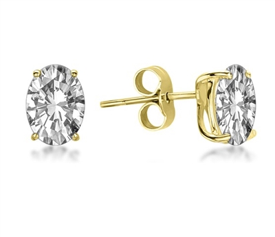 Classic Oval Diamond Stud Earrings DHMTER075 Image