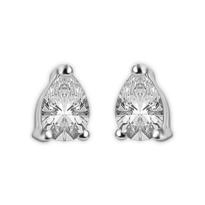 Modern Pear Diamond Stud Earrings DHLER1027 Image