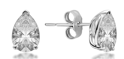 Classic Pear Diamond Stud Earrings DHMTER074 Image