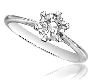 Round Diamond Engagement Ring DHDOMR1326 Image