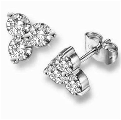 Round Diamond Designer Earrings DHDOM22169 Image