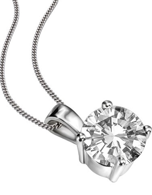 Traditional Round Diamond Solitaire Pendant DHDOMPD252 Image