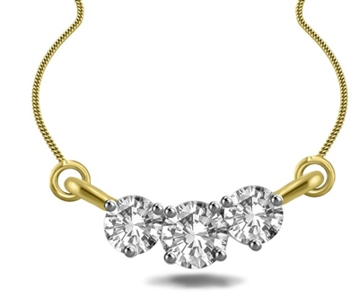 Elegant Round Diamond Trilogy Necklace EP012 Image