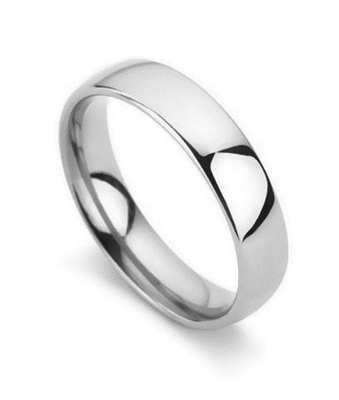 5mm Court Shape Wedding Ring DHC05 Image