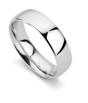 6mm Court Shape Wedding Ring DHC06 Image