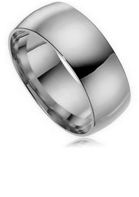 9mm Court Shaped Wedding Ring DHC09 Image