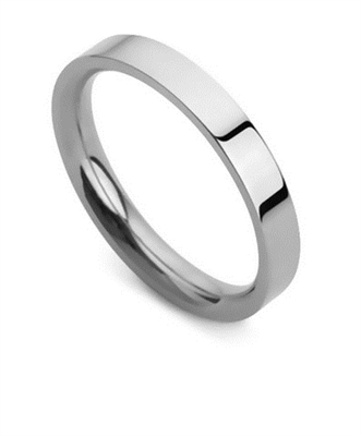 3mm Flat Court Wedding Ring DHFC03 Image