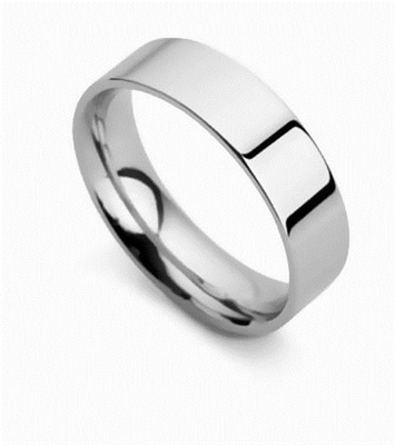 6mm Flat Court Wedding Ring DHFC06 Image