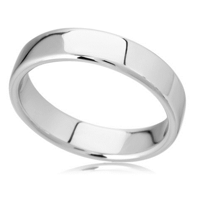 5mm Rounded Flat Court Wedding Ring DHBRF5 Image