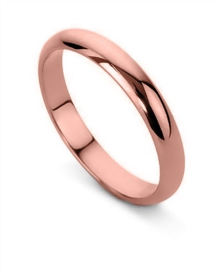 3mm D Shape Wedding Ring DHD03 Image