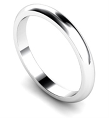2.5mm D Shape Wedding Rings DHD25 Image