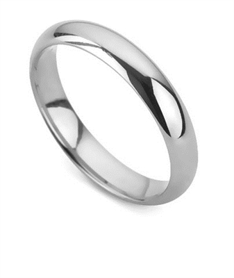 4mm D Shape Wedding Ring DHD04 Image