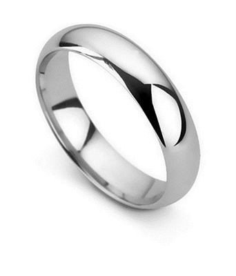 5mm D Shape Wedding Ring DHD05 Image