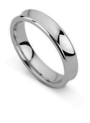 4mm Concave Wedding Ring DHBWR4 Image