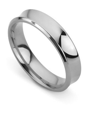 5mm Concave Wedding Ring DHBWR5 Image