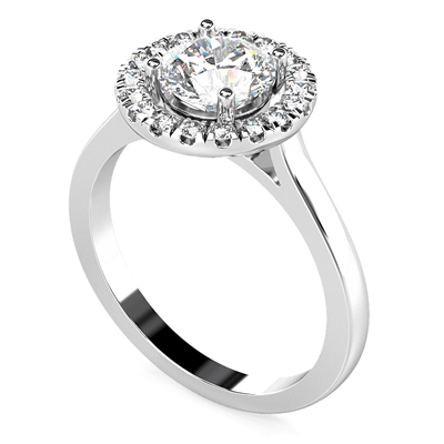 Round Diamond Single Halo Ring DHDOMDSR21 Image