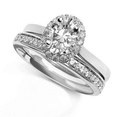 Oval Diamond Single Halo Ring DHDOMDSO4 Image