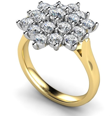 Round Diamond Cluster Ring DHMTC113 Image