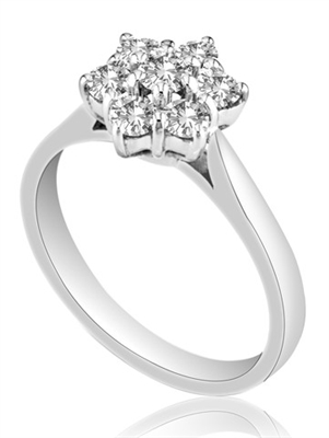 Round Diamond Cluster Ring DHMTC263 Image