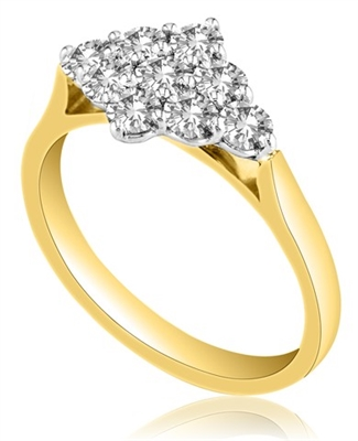 Round Diamond Cluster Ring DHMTC292 Image