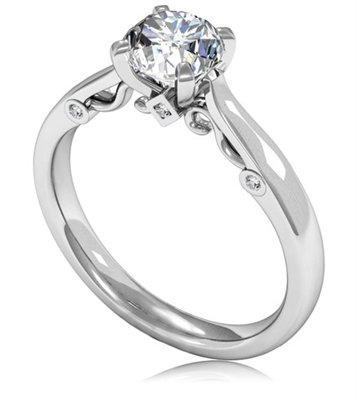 Round Diamond Engagement Ring DHMTSS950 Image