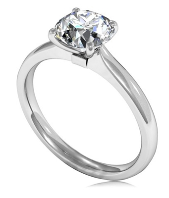Round Diamond Engagement Ring DHMTSS922 Image