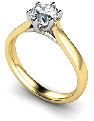 Round Diamond Engagement Ring DHMTSS916 Image