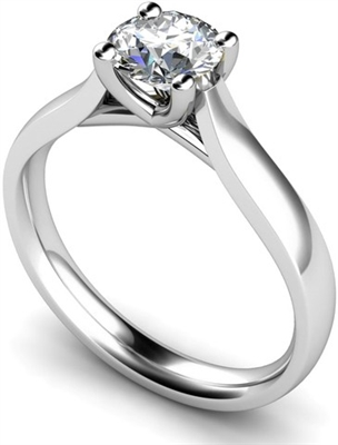 Unique Crossover Round Diamond Engagement Ring DHMTSS568R Image