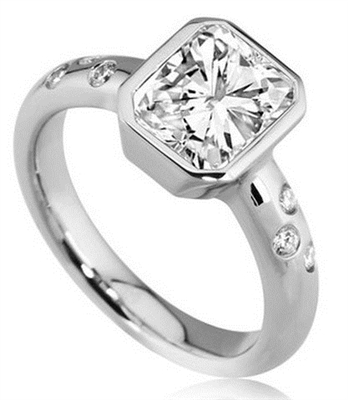 Radiant Diamond Designer Ring DHDOMR1276RA Image