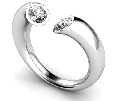 Two Stone Round Diamond Ring DHMT02021 Image