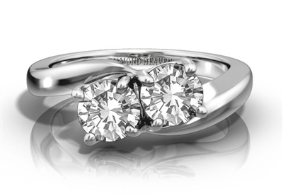 Two Stone Round Diamond Ring DHRZ0526 Image