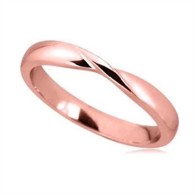 3mm Court Shaped Wedding Ring DHWS23 Image