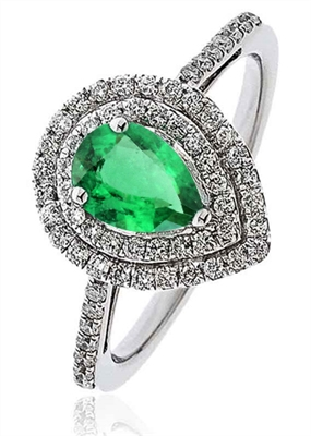 Emerald & Diamond Engagement Ring DHLMJSL6806EMC Image