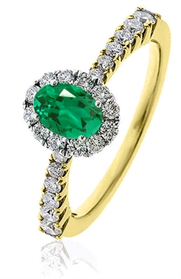 Emerald & Diamond Engagement Ring DHLMJSL6923EMC Image