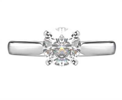 Round Diamond Engagement Ring DHRX3074 Image