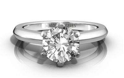 Knife Edge Round Diamond Engagement Ring DHRZ0915 Image