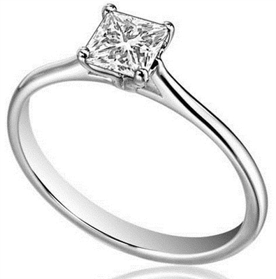Princess Diamond Engagement Ring DHDOMR1141P Image
