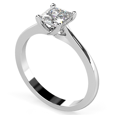 Princess Diamond Engagement Ring DHDOMR1142 Image