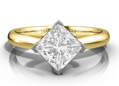 Princess Diamond Engagement Ring DHDOMM94B3B Image