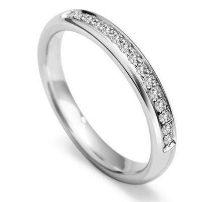 3mm Round Diamond 40% Wedding Ring DHWG93R125 Image