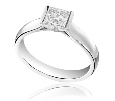Princess Diamond Engagement Ring DHDOMR1250 Image