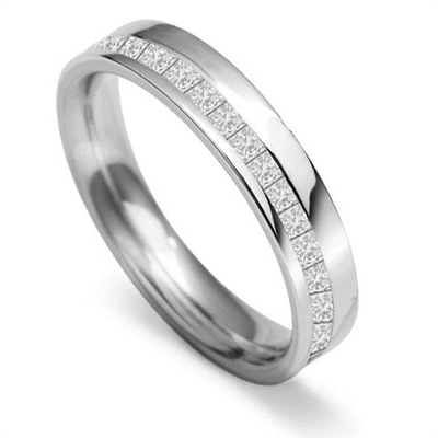 4mm Princess Diamond 60% Wedding Ring DHWGH34X125 Image