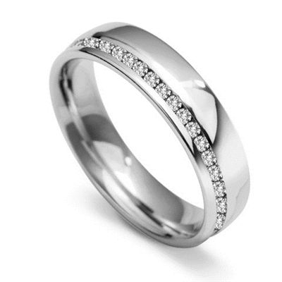 5mm Offset 60% Diamond Wedding Ring DHWGH45R125 Image